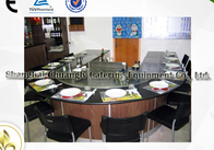 Arch Shape Stainless Steel Commercial 12 Seats Teppanyaki Grill Table Electromagnetic Heating