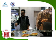 Electric Italy Pizza Oven Copper Plated Napoli Lava Rock for Restaurant