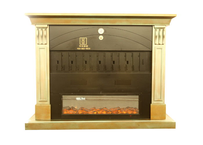 European Style Fireplace Charcoal Heating 4 / 6 / 8 spaces Fish Grill Machine
