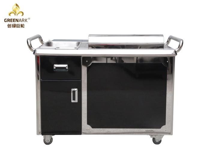 Black Japanese 1200mm Teppanyaki Grill Cooking Equipment / Restaurant Electric Teppanyaki Plate