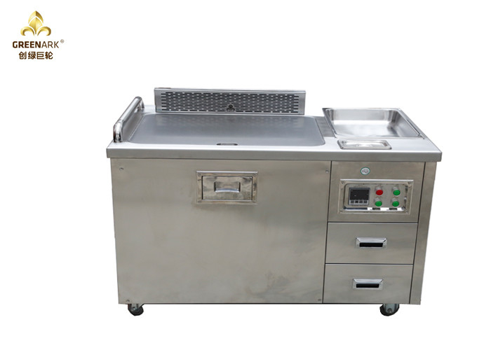 1200mm Mobile Hibachi Japanese Cooking Table Stainless Steel For Commercial