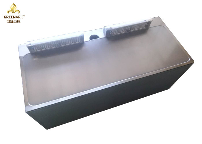 Double Air Blower Electric Teppanyaki Grill Rectangle Shape For Restaurant