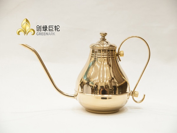 Golden Stainless Steel Oil Pot Cooking Tools for Teppanyaki Restaurant